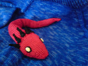Knitted Feral Serpent by Maribelle