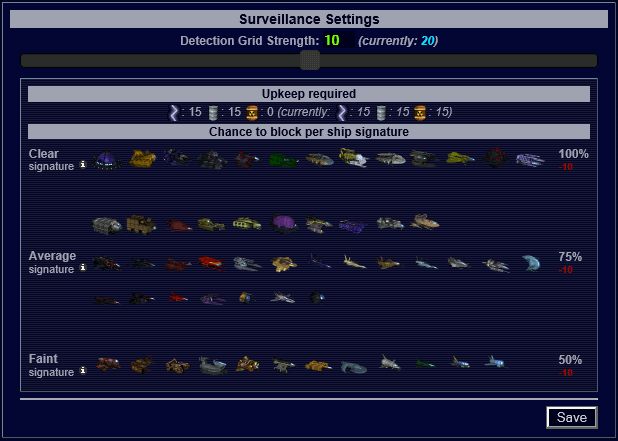 MO Surveillance Settings